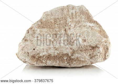 A Piece Of Limestone On A White Background