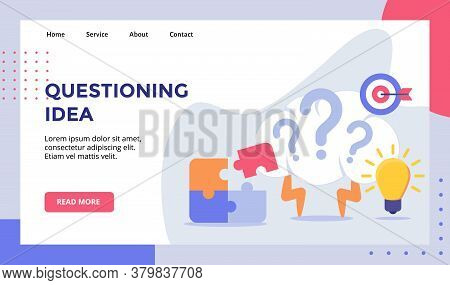 Questioning Idea Brain Lightning Background Of Bright Bulb Puzzle Campaign For Web Website Home Home