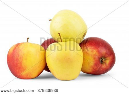 Red Apples On White. This File Is Cleaned, Retouched And Contains Clipping Path