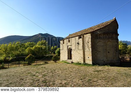 View Of The Romanesque And Mozarabic Church Of San Juan De Busa (included In The Route Of The Romane