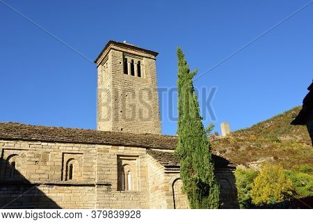 Detail Of The Romanesque And Mozarabic Church Of San Pedro De Larrede (inclouded In The Route Of The