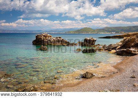 Beautiful coastline of Crete island, Greece