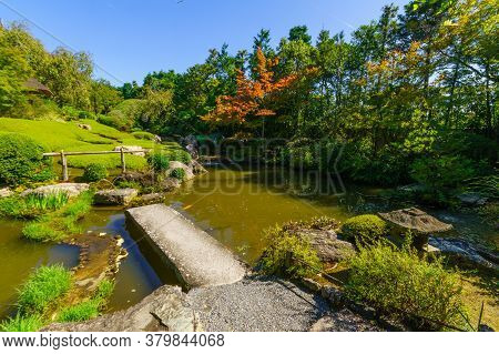View Of The Yoko-en (pond Garden) Of The Taizo-in Temple, In Kyoto, Japan