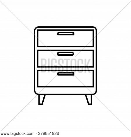 Badeside Table Icon Vector. Badside Table Icon Isolated On White Background From Furniture Collectio
