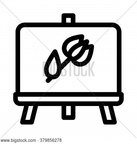 Painted Picture Flower Icon Vector. Painted Picture Flower Sign. Isolated Contour Symbol Illustratio