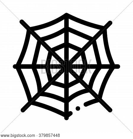 Halloween Spider Web Icon Vector. Halloween Spider Web Sign. Isolated Contour Symbol Illustration