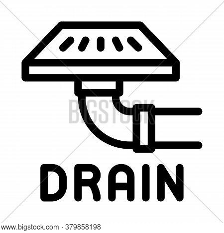 Drain Grate Icon Vector. Drain Grate Sign. Isolated Contour Symbol Illustration