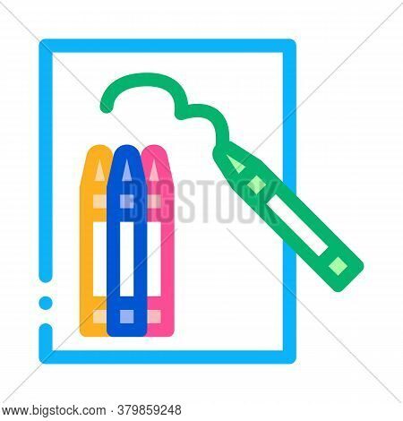 Painting Picture Icon Vector. Painting Picture Sign. Color Symbol Illustration