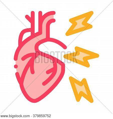 Hypertension Illness Icon Vector. Hypertension Illness Sign. Color Symbol Illustration