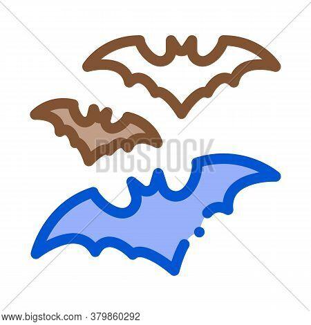 Halloween Bat Icon Vector. Halloween Bat Sign. Color Symbol Illustration
