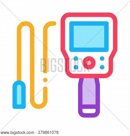 Drain Cleaning Electronic Device Icon Vector. Drain Cleaning Electronic Device Sign. Color Symbol Il