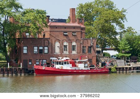Fireboat On The River