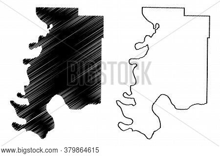 Posey County, Indiana (u.s. County, United States Of America, Usa, U.s., Us) Map Vector Illustration