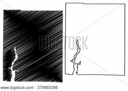 Union County, Indiana (u.s. County, United States Of America, Usa, U.s., Us) Map Vector Illustration