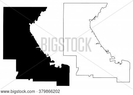 Riley County, Kansas (u.s. County, United States Of America, Usa, U.s., Us) Map Vector Illustration,