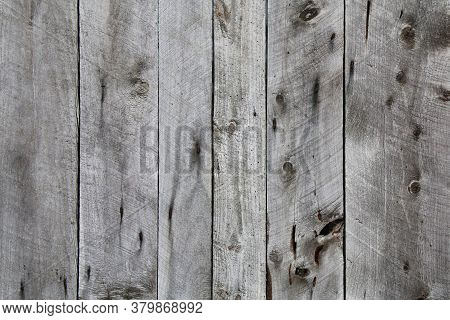 Natural Old Vintage Knotty Weathered Aged Wood Fence Board Vertical View Suitable For Website Backgr