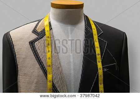 Unfinished jacket at a tailor shop (horizontal)