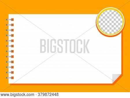 Template Paper Rectangle A4 White And Circle Transparent For Background, Blank Paper White For Banne