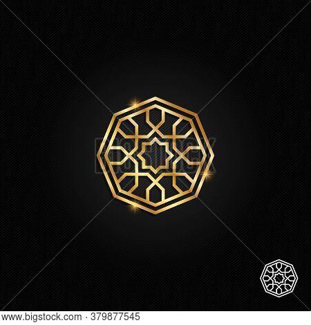 Islamic Oriental, Geometric Motif. Traditional Islamic, Arabic, Persian And Ottoman Design Vector Il