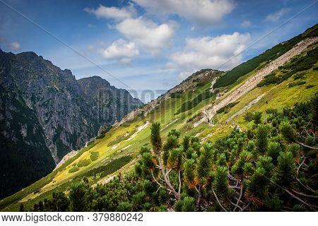 Tatras Mountains Peaks In Sunny Day. Poland.