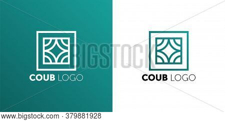 Coub Logo. Icon Design Element. Abstract Logo Idea For Business Company. Construction, House, Frame,