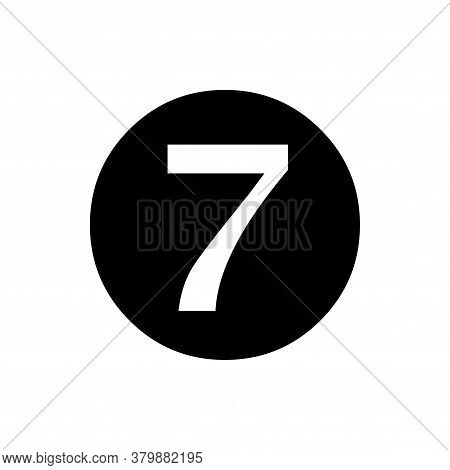 Number 7 Icon Vector. Number 7 Icon Isolated On White Background. Number 7 Icon Simple And Modern.