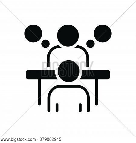 Black Solid Icon For Consultation Appointment Conference Deliberation Advice Counsel Rede Inference