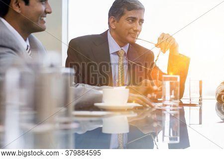 Portrait of Indian businessmen in meeting
