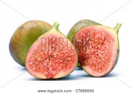 Green Fig Isolated On White