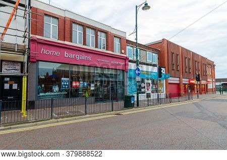 Prestatyn, Uk: Jul 06, 2020: A General View Of The High Street At Early Evening. A Rowlands Chemists