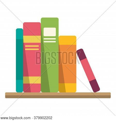 Stack Of Books, Textbook For University Library