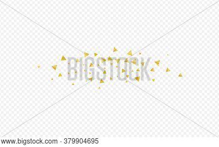 Golden Shard Bridal Transparent Background. Festive Shards Texture. Gold Sparkle Isolated Pattern. D