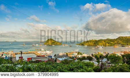 A View Over The Town Of Labuan Bajo And Harbour In The Morning, Flores, Indonesia