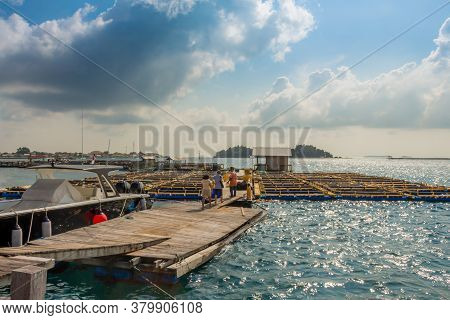 A Fish Farm On Pramuka Island On A Sunny Afternoon In The Thousand Islands, Indonesia