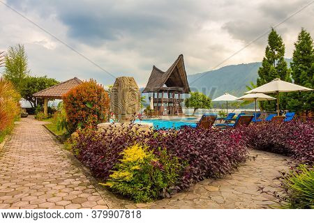 A Bataknese Villa On The Shore Of Lake Toba, Inside The Volcanic Crater, North Sumatra, Indonesia