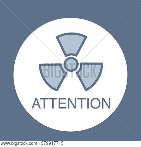 Radiation Logo For Medical Subjects. Vector Image
