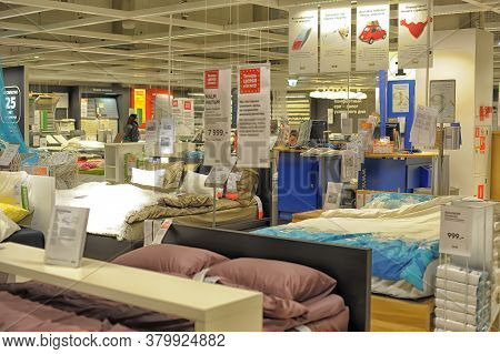 26,12,2013 Russia, St. Petersburg  A Sample Of The Interior In Ikea Store, Samara. Ikea Was Founded