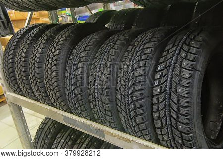 Winter Studded Tires In The Shop