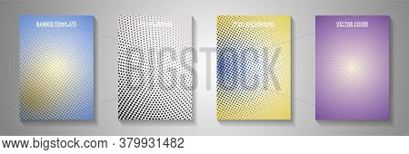 Elegant Circle Faded Screen Tone Front Page Templates Vector Series. Urban Catalog Perforated Screen
