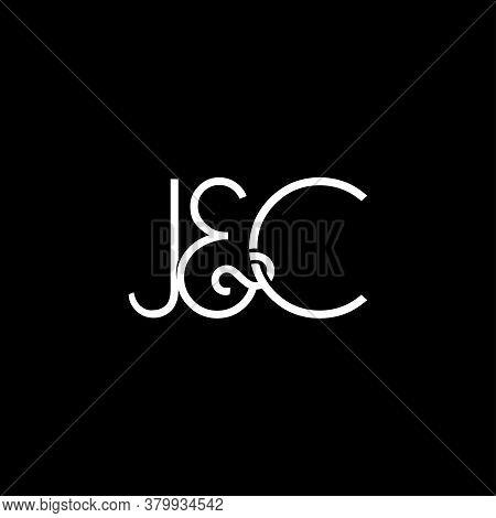J&c Initial Logo. Ampersand Monogram Logo, Isolated On Black Background