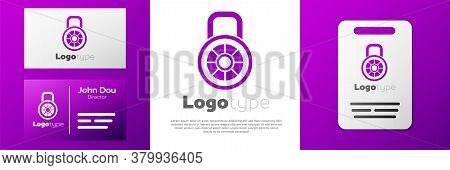 Logotype Safe Combination Lock Icon Isolated On White Background. Combination Padlock. Security, Saf