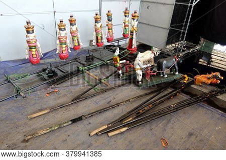 Hoi An, Vietnam, February 24, 2020: Different Models Of Water Puppets From The Hoi An Water Puppet T