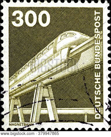 02 11 2020 Divnoe Stavropol Territory Russia German Postage Stamp 1982 Industry And Technic Maglev -