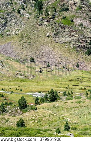 Country House In The Coma Pedrosa Refuge At 2266 Meters Of Altitude In Andorra Pyrenees In Summer 20