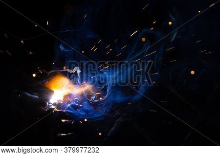 The Burning Of The Arc For Manual Arc Welding