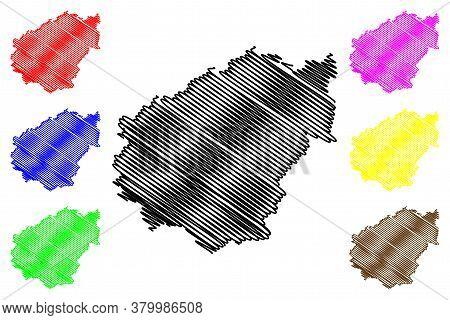 Correze Department (france, French Republic, Nouvelle-aquitaine Region) Map Vector Illustration, Scr