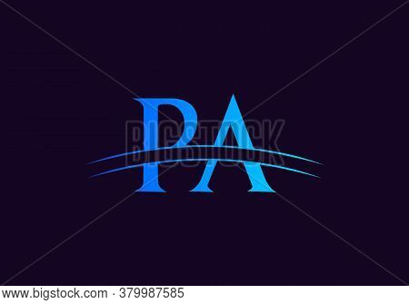 Pa Logo For Business And Company Identity. Creative Letter Pa Logo Vector Template.