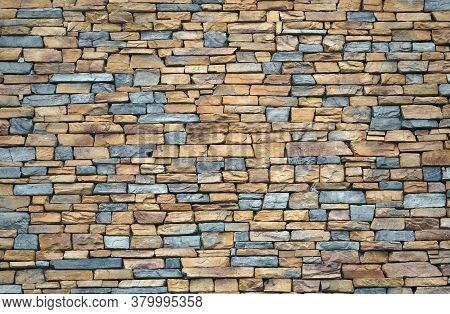 Close Up On Old Stone Wall Background
