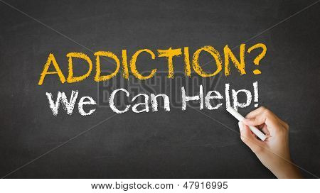 Addiction We Can Help Chalk Illustration