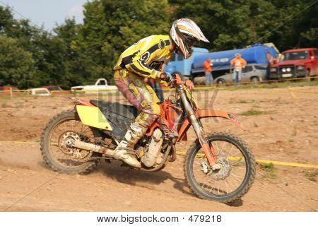 Yellow Motocross